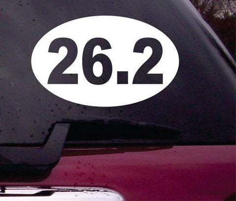 26.2 Marathon Running Euro Oval Decal Sticker Vinyl Decal Sticker Art Graphic Stickers Laptop Car Window - ezwalldecals vinyl decal - vinyl sticker - decals - stickers - wall decal - jdm decal - vinyl stickers - vinyl decals - 1