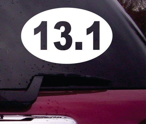 13.1 10K Running Euro Oval Decal Sticker Vinyl Decal Sticker Art Graphic Stickers Laptop Car Window - ezwalldecals vinyl decal - vinyl sticker - decals - stickers - wall decal - jdm decal - vinyl stickers - vinyl decals - 1