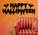 Happy Halloween Wall Vinyl Decal Sticker Art Graphic Sticker - ezwalldecals vinyl decal - vinyl sticker - decals - stickers - wall decal - jdm decal - vinyl stickers - vinyl decals - 1