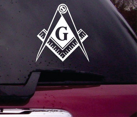 Freemason Symbol Decal Sticker Vinyl Decal Sticker Art Graphic Stickers Laptop Car Window - ezwalldecals vinyl decal - vinyl sticker - decals - stickers - wall decal - jdm decal - vinyl stickers - vinyl decals - 1