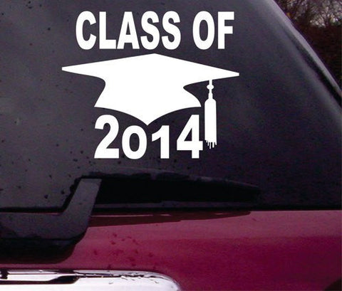 Class of 2014 Decal Sticker Vinyl Decal Sticker Art Graphic Stickers Laptop Car Window - ezwalldecals vinyl decal - vinyl sticker - decals - stickers - wall decal - jdm decal - vinyl stickers - vinyl decals - 1