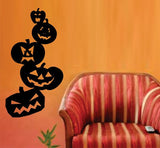 Jack O Lantern Stack Halloween Wall Vinyl Decal Sticker Art Graphic Sticker - ezwalldecals vinyl decal - vinyl sticker - decals - stickers - wall decal - jdm decal - vinyl stickers - vinyl decals - 1