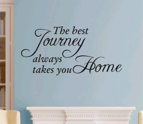 The Best Journey Quote Wall Decal Sticker Teen Love Girl Room Decor Words Tattoo - ezwalldecals vinyl decal - vinyl sticker - decals - stickers - wall decal - jdm decal - vinyl stickers - vinyl decals - 1