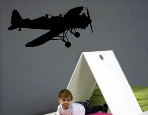 Airplane Wall Decal Sticker Vinyl  Mural Kids Room Army Military Graphic Art - ezwalldecals  - vinyl decal - vinyl sticker - decals - stickers - wall decal - jdm decal - vinyl stickers - vinyl decals - 1