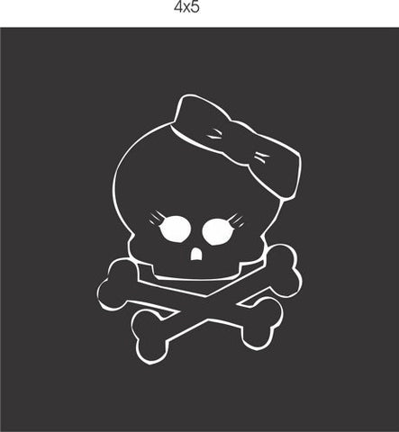 Girl Skull with Bow vinyl decal sticker window car truck van SUV - ezwalldecals vinyl decal - vinyl sticker - decals - stickers - wall decal - jdm decal - vinyl stickers - vinyl decals - 1