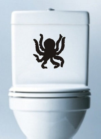 Octopus Toilet Decal Sticker Wall Graphic Ocean Animal Ocho Funny Bathroom - ezwalldecals vinyl decal - vinyl sticker - decals - stickers - wall decal - jdm decal - vinyl stickers - vinyl decals - 1