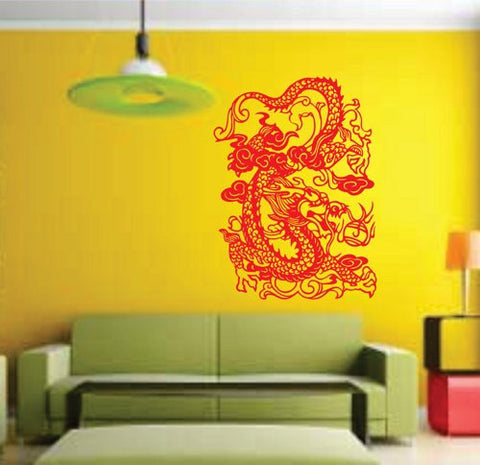 Tribal Dragon Wall Decal Sticker Mural Art Graphic Dragon Kid Boy Room Asian Verion 110 - ezwalldecals vinyl decal - vinyl sticker - decals - stickers - wall decal - jdm decal - vinyl stickers - vinyl decals - 1