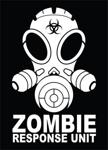 Zombie Response Unit Vinyl Decal Sticker Outbreak Vehicle Horror Funny Gasmask vinyl decal sticker window car truck van SUV - ezwalldecals vinyl decal - vinyl sticker - decals - stickers - wall decal - jdm decal - vinyl stickers - vinyl decals - 1