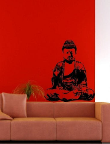 Wall Mural Decal Sticker Home Buddha India Meditation - ezwalldecals  - vinyl decal - vinyl sticker - decals - stickers - wall decal - jdm decal - vinyl stickers - vinyl decals - 1