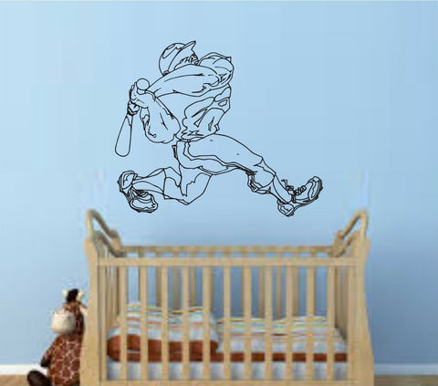 Baseball Player Version 108 Wall Vinyl Wall Decal Sticker Art Sports Kid Children Ball Nursery Boy Teen Homerun - ezwalldecals  - vinyl decal - vinyl sticker - decals - stickers - wall decal - jdm decal - vinyl stickers - vinyl decals - 1