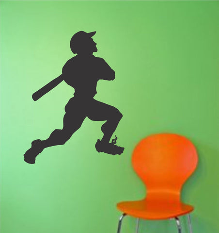 Baseball Player Version 109 Wall Vinyl Wall Decal Sticker Art Sports Kid Children Ball Nursery Boy Teen Homerun - ezwalldecals  - vinyl decal - vinyl sticker - decals - stickers - wall decal - jdm decal - vinyl stickers - vinyl decals - 1