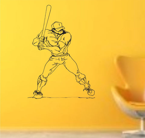 Baseball Player Version 110 Wall Vinyl Wall Decal Sticker Art Sports Kid Children Ball Nursery Boy Teen Homerun - ezwalldecals  - vinyl decal - vinyl sticker - decals - stickers - wall decal - jdm decal - vinyl stickers - vinyl decals - 1