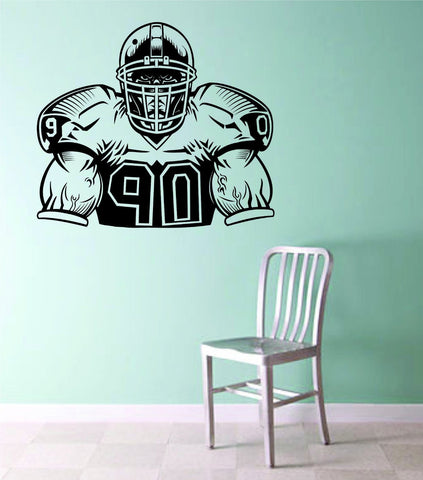 Football Player Version 105 Decal Sticker Wall Mural Boy Teen NFL Tackle Sports - ezwalldecals  - vinyl decal - vinyl sticker - decals - stickers - wall decal - jdm decal - vinyl stickers - vinyl decals - 1