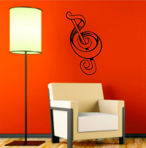 Music Notes Version 106 Design Decal Sticker Wall Instrument Cool Modern Beautiful Child Boy Girl - ezwalldecals  - vinyl decal - vinyl sticker - decals - stickers - wall decal - jdm decal - vinyl stickers - vinyl decals - 1
