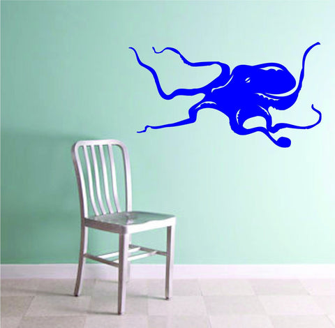 Octopus Version 105 Wall Vinyl Decal Sticker Decals Nautical Ocean - ezwalldecals  - vinyl decal - vinyl sticker - decals - stickers - wall decal - jdm decal - vinyl stickers - vinyl decals - 1