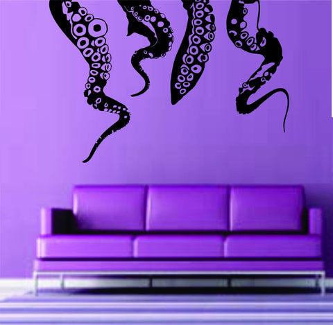Octopus Kraken Tentacles Wall Vinyl Decal Sticker Decals Nautical Ocean - ezwalldecals  - vinyl decal - vinyl sticker - decals - stickers - wall decal - jdm decal - vinyl stickers - vinyl decals - 1