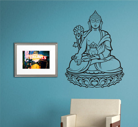 Buddha Version 105 Yoga Sign Quote Wall Decal Sticker Buddha Absolute Brahman Hindu - ezwalldecals  - vinyl decal - vinyl sticker - decals - stickers - wall decal - jdm decal - vinyl stickers - vinyl decals - 1