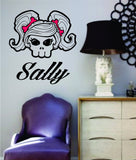 Custom Girl Skull with Name Wall Vinyl Decal Sticker Art Graphic Sticker Sugar Skull - ezwalldecals  - vinyl decal - vinyl sticker - decals - stickers - wall decal - jdm decal - vinyl stickers - vinyl decals - 1