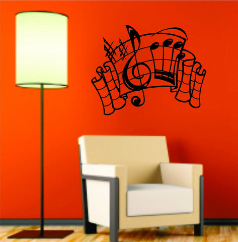 Music Notes Version 105 Design Decal Sticker Wall Instrument Cool Modern Beautiful Child Boy Girl - ezwalldecals  - vinyl decal - vinyl sticker - decals - stickers - wall decal - jdm decal - vinyl stickers - vinyl decals - 1