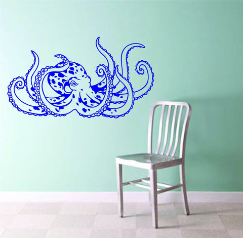 Octopus Version 106 Wall Vinyl Decal Sticker Decals Nautical Ocean - ezwalldecals  - vinyl decal - vinyl sticker - decals - stickers - wall decal - jdm decal - vinyl stickers - vinyl decals - 1