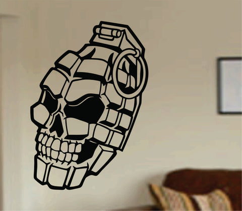 Grenade Skull Decal Sticker Wall Vinyl Kids army marines weapon war funny - ezwalldecals  - vinyl decal - vinyl sticker - decals - stickers - wall decal - jdm decal - vinyl stickers - vinyl decals - 1