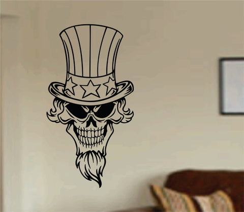 Patriotic Skull Wall Vinyl Decal Sticker Art Graphic Sticker USA 4th of July America Murrica - ezwalldecals  - vinyl decal - vinyl sticker - decals - stickers - wall decal - jdm decal - vinyl stickers - vinyl decals - 1