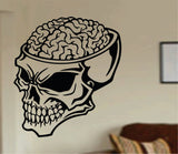 Zombie Brain Skull Wall Vinyl Decal Sticker Art Graphic Sticker Walking Dead Zombies - ezwalldecals  - vinyl decal - vinyl sticker - decals - stickers - wall decal - jdm decal - vinyl stickers - vinyl decals - 1