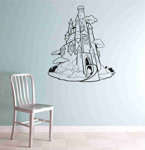 Princess Castle decal sticker  vacation wall mural Version 101 - ezwalldecals  - vinyl decal - vinyl sticker - decals - stickers - wall decal - jdm decal - vinyl stickers - vinyl decals - 1