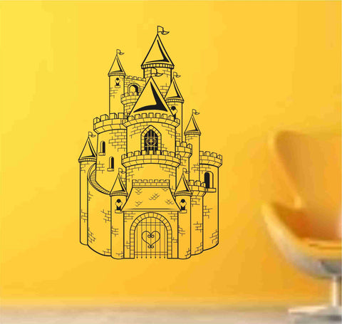 Princess Castle decal sticker  vacation wall mural Version 102 - ezwalldecals  - vinyl decal - vinyl sticker - decals - stickers - wall decal - jdm decal - vinyl stickers - vinyl decals - 1