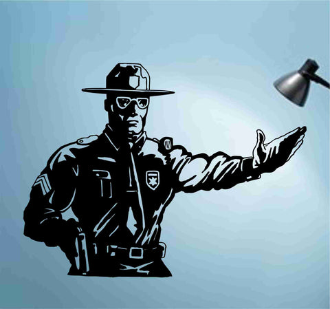 Cop Policeman Police Decal Sticker Wall Vinyl - ezwalldecals  - vinyl decal - vinyl sticker - decals - stickers - wall decal - jdm decal - vinyl stickers - vinyl decals - 1