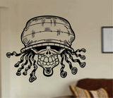 Rasta Skull Wall Vinyl Decal Sticker Sugar Skull Sugarskull - ezwalldecals  - vinyl decal - vinyl sticker - decals - stickers - wall decal - jdm decal - vinyl stickers - vinyl decals - 1