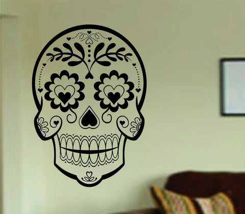 Sugarskull Version 21 Wall Vinyl Decal Sticker Art Graphic Sticker Sugar Skull - ezwalldecals  - vinyl decal - vinyl sticker - decals - stickers - wall decal - jdm decal - vinyl stickers - vinyl decals - 1