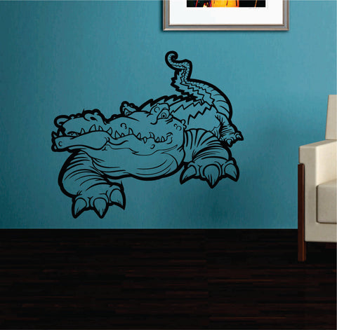 Aligator Version 101 Vinyl Wall Decal Sticker Zoo Modern Wall Mural Art Animal - ezwalldecals  - vinyl decal - vinyl sticker - decals - stickers - wall decal - jdm decal - vinyl stickers - vinyl decals - 1