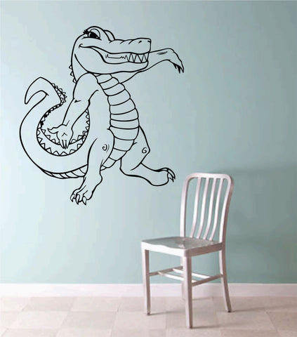 Aligator Version 102 Vinyl Wall Decal Sticker Zoo Modern Wall Mural Art Animal - ezwalldecals  - vinyl decal - vinyl sticker - decals - stickers - wall decal - jdm decal - vinyl stickers - vinyl decals - 1