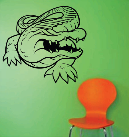 Aligator Version 104 Vinyl Wall Decal Sticker Zoo Modern Wall Mural Art Animal - ezwalldecals  - vinyl decal - vinyl sticker - decals - stickers - wall decal - jdm decal - vinyl stickers - vinyl decals - 1