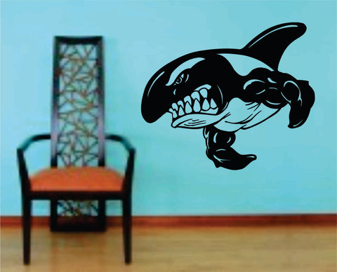 Killer Whale Version 101 Decal Sticker Wall Art Graphic Fish Ocean Scuba Dive - ezwalldecals  - vinyl decal - vinyl sticker - decals - stickers - wall decal - jdm decal - vinyl stickers - vinyl decals - 1