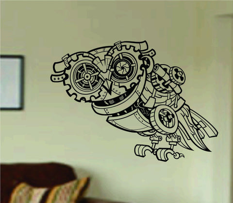 Steampunk Owl Wall Vinyl Decal Sticker Art Graphic Sticker Skull - ezwalldecals  - vinyl decal - vinyl sticker - decals - stickers - wall decal - jdm decal - vinyl stickers - vinyl decals - 1