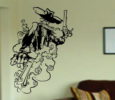 Cowboy Skeleton Wall Vinyl Decal Sticker Art Graphic Sticker Sugar Skull Western Rodeo Cowboys - ezwalldecals  - vinyl decal - vinyl sticker - decals - stickers - wall decal - jdm decal - vinyl stickers - vinyl decals - 1