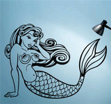 Mermaid Version 101 Vinyl Wall Decal Sticker Decal Stickers Mermaids Nursery Kids Room Fantasy - ezwalldecals  - vinyl decal - vinyl sticker - decals - stickers - wall decal - jdm decal - vinyl stickers - vinyl decals - 1
