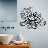Lotus Flower Version 101 Wall Decal Sticker Art Graphic - ezwalldecals  - vinyl decal - vinyl sticker - decals - stickers - wall decal - jdm decal - vinyl stickers - vinyl decals - 1