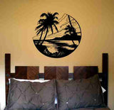 Beach Scene Sticker Wall Decal Sticker Art Graphic - ezwalldecals  - vinyl decal - vinyl sticker - decals - stickers - wall decal - jdm decal - vinyl stickers - vinyl decals - 1