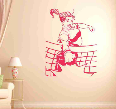 Volleyball Girl Spiking Ball Vinyl Wall Decal Sticker Art Sports Kid Children Ball Nursery Boy Teen  Ball Nursery Boy Teen - ezwalldecals  - vinyl decal - vinyl sticker - decals - stickers - wall decal - jdm decal - vinyl stickers - vinyl decals - 1