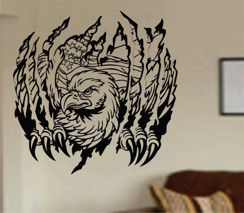 Eagle Ripping Thru Wall Mural Decal Sticker Vinyl - ezwalldecals  - vinyl decal - vinyl sticker - decals - stickers - wall decal - jdm decal - vinyl stickers - vinyl decals - 1