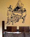 Skeleton Version 102 Playing Piano  Wall Vinyl Decal Sticker Art Graphic Sticker Sugar Skull - ezwalldecals  - vinyl decal - vinyl sticker - decals - stickers - wall decal - jdm decal - vinyl stickers - vinyl decals - 1