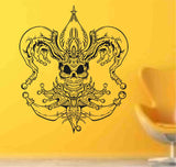 Skull Version 117 Bones Wall Vinyl Decal Sticker Art Graphic Sticker Skulls - ezwalldecals  - vinyl decal - vinyl sticker - decals - stickers - wall decal - jdm decal - vinyl stickers - vinyl decals - 1