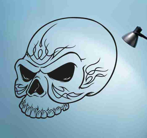 Skull Version 121 Bones Wall Vinyl Decal Sticker Art Graphic Sticker Skulls - ezwalldecals  - vinyl decal - vinyl sticker - decals - stickers - wall decal - jdm decal - vinyl stickers - vinyl decals - 1
