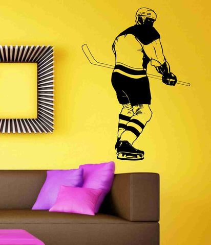 Hockey Version 113 Player Wall Vinyl Wall Decal Sticker Art Sports Kid Children  Nursery Boy Teen - ezwalldecals  - vinyl decal - vinyl sticker - decals - stickers - wall decal - jdm decal - vinyl stickers - vinyl decals - 1