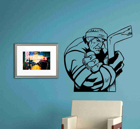 Hockey Version 121 Ice Hockey Players Wall Vinyl Wall Decal Sticker Art Sports Kid Children Nursery Boy Teen - ezwalldecals  - vinyl decal - vinyl sticker - decals - stickers - wall decal - jdm decal - vinyl stickers - vinyl decals - 1