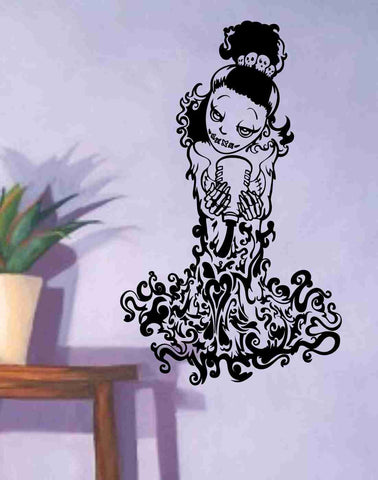 Skeleton Version 106 Pin Up Model Wall Vinyl Decal Sticker Art Graphic Sticker Sugar Skull - ezwalldecals  - vinyl decal - vinyl sticker - decals - stickers - wall decal - jdm decal - vinyl stickers - vinyl decals - 1