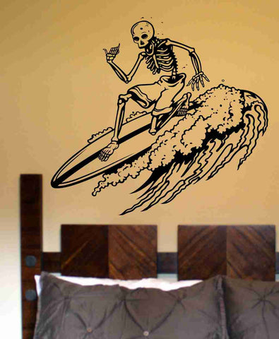 Skeleton Version 107 Surfer Wall Vinyl Decal Sticker Art Graphic Sticker Sugar Skull - ezwalldecals  - vinyl decal - vinyl sticker - decals - stickers - wall decal - jdm decal - vinyl stickers - vinyl decals - 1